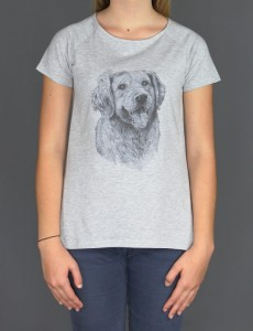 Koszulka/T-shirt damski Golden Retriever